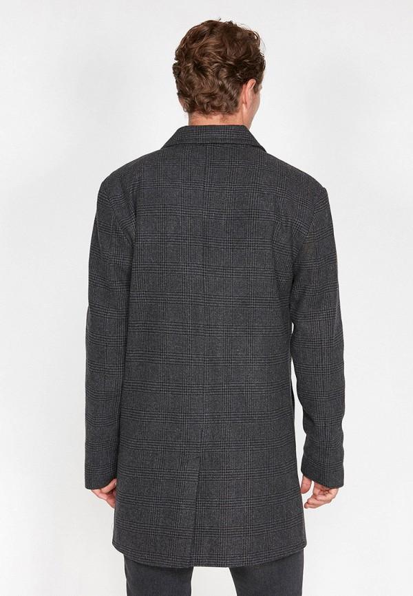 Фото 2 - мужское пальто или плащ Koton серого цвета