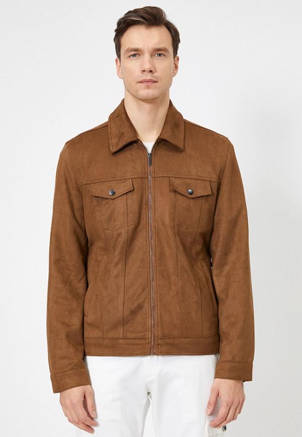 мужская куртка koton, коричневая