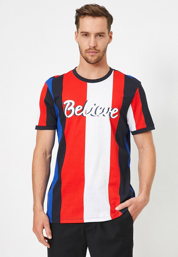 мужская футболка с коротким рукавом koton, разноцветная