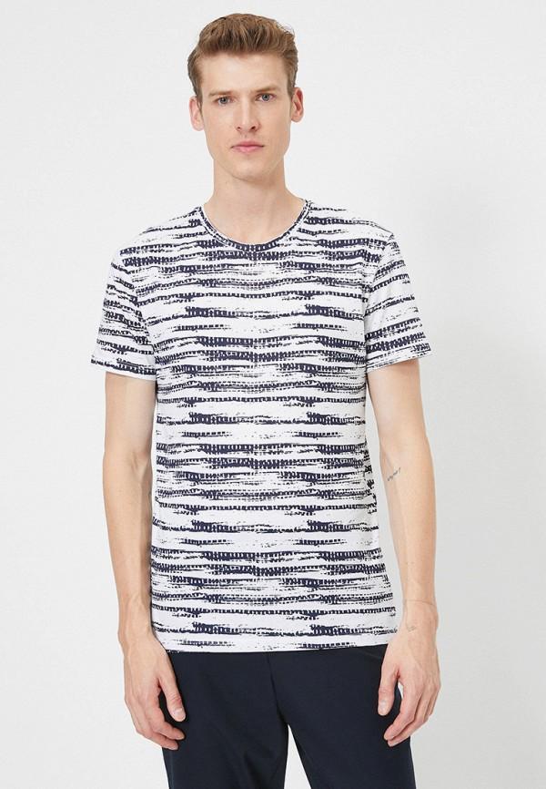 мужская футболка с коротким рукавом koton, синяя