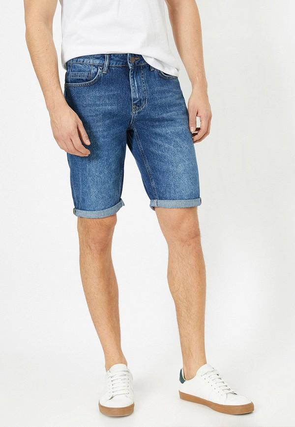 мужские джинсовые шорты koton, синие