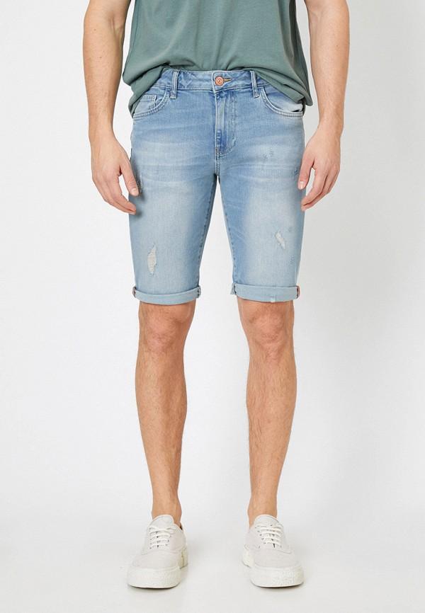 мужские джинсовые шорты koton, голубые