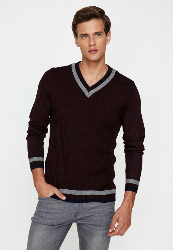 мужской пуловер koton, бордовый