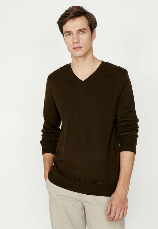 мужской пуловер koton, хаки