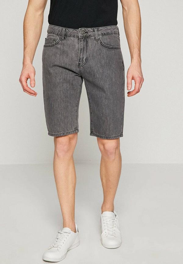 мужские джинсовые шорты koton, серые