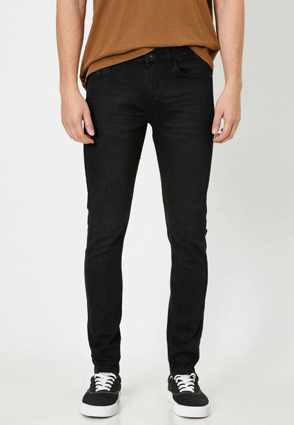 мужские зауженные джинсы koton, черные