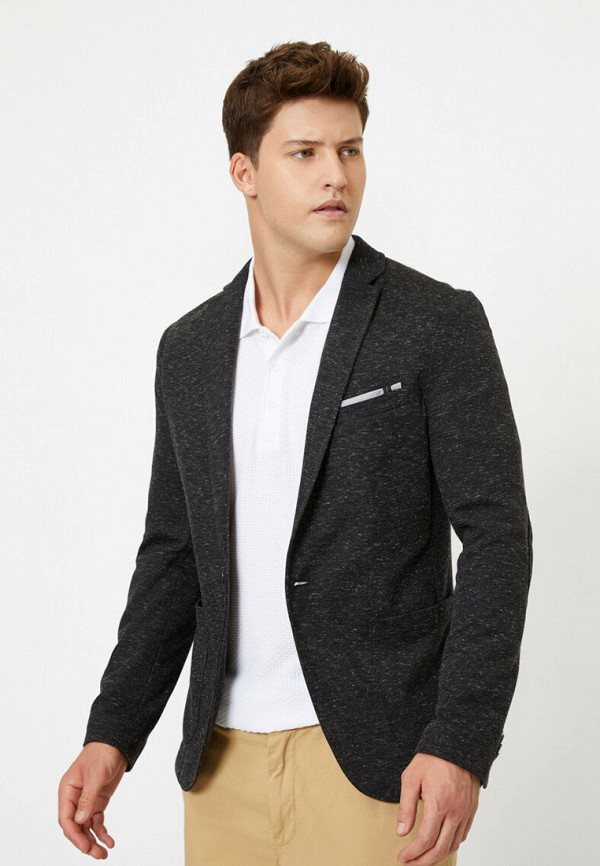 мужской пиджак koton, серый
