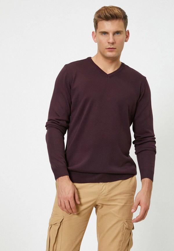 мужской пуловер koton, фиолетовый