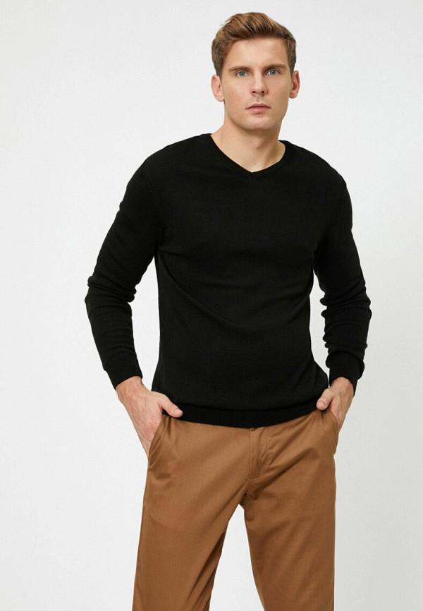 мужской пуловер koton, черный