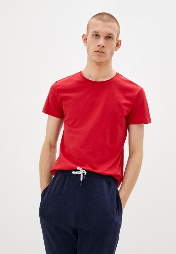 мужская футболка с коротким рукавом koton, красная