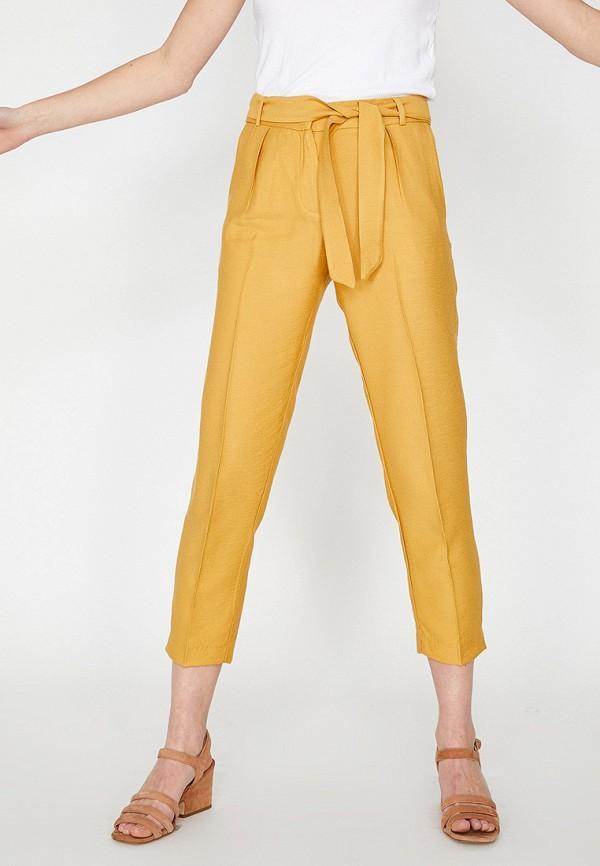 Фото - женские брюки Koton желтого цвета