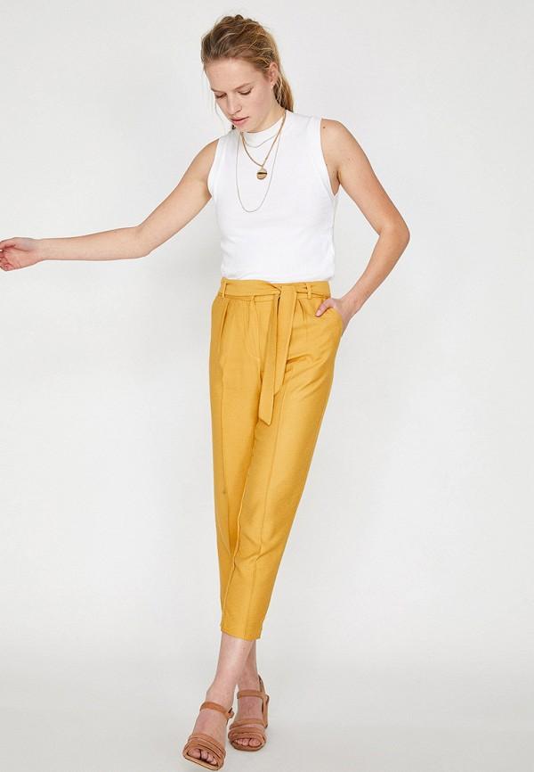 Фото 2 - женские брюки Koton желтого цвета