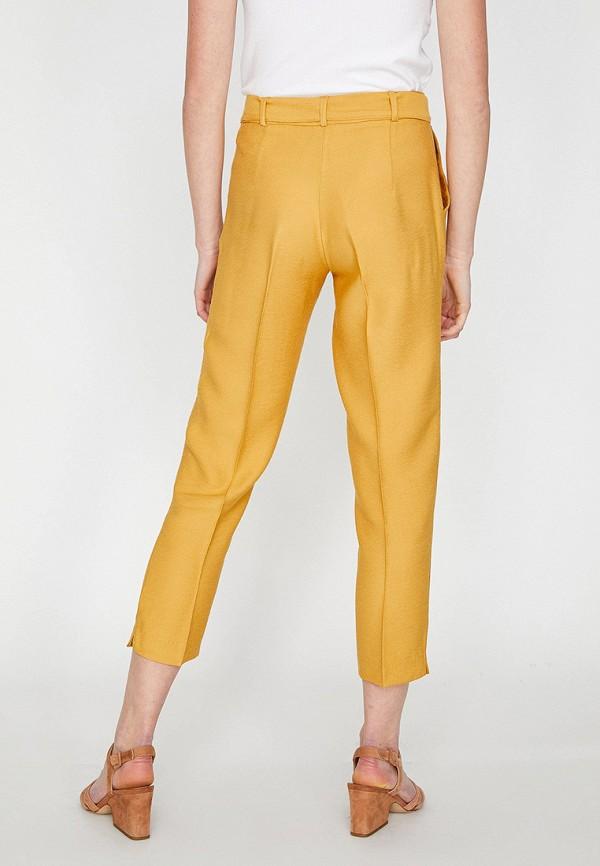 Фото 3 - женские брюки Koton желтого цвета