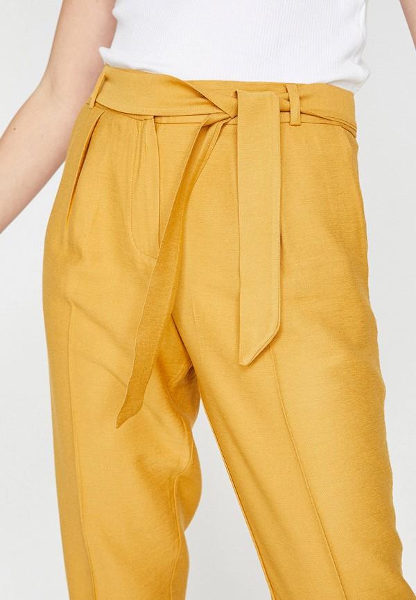 Фото 4 - женские брюки Koton желтого цвета