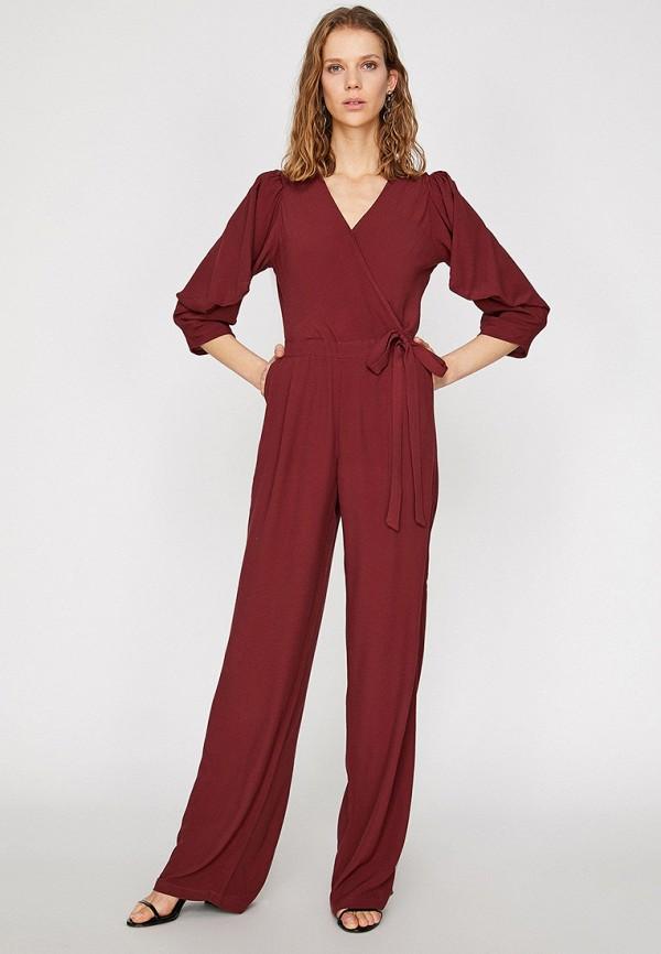 женский комбинезон koton, бордовый