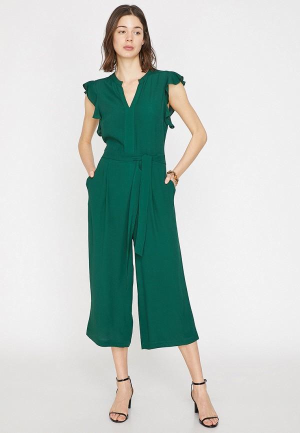 женский комбинезон koton, зеленый