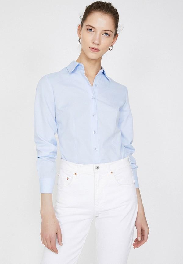 Фото - Женскую рубашку Koton голубого цвета