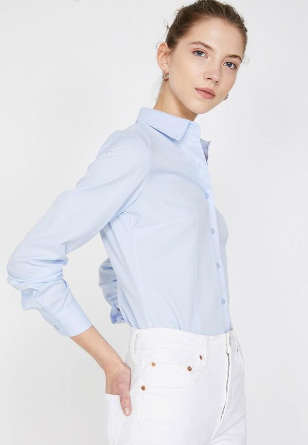 Фото 2 - Женскую рубашку Koton голубого цвета