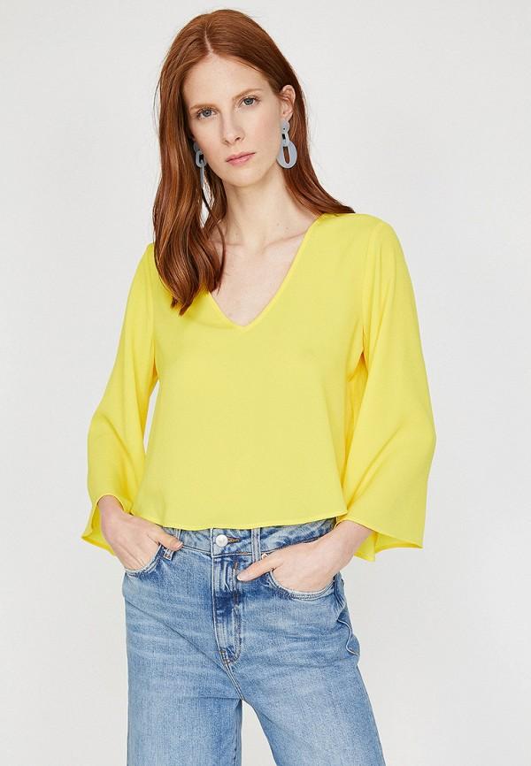 Фото - Женскую блузку Koton желтого цвета