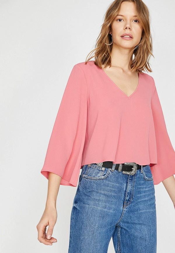Фото - женскую блузку Koton розового цвета