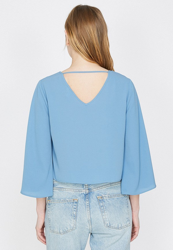 Фото 2 - женскую блузку Koton голубого цвета