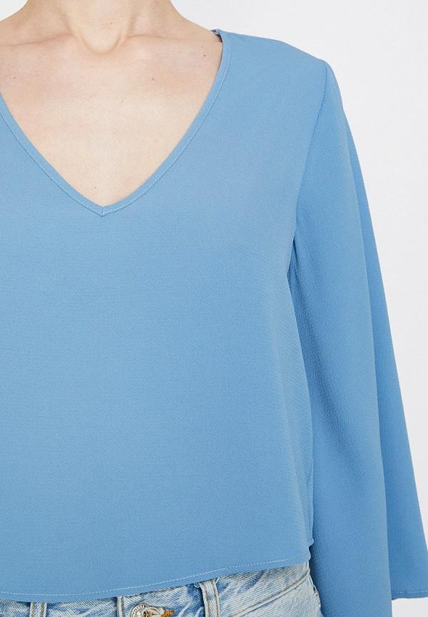 Фото 3 - женскую блузку Koton голубого цвета