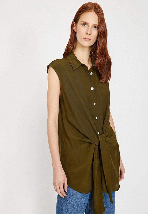 Фото - Женскую блузку Koton цвета хаки