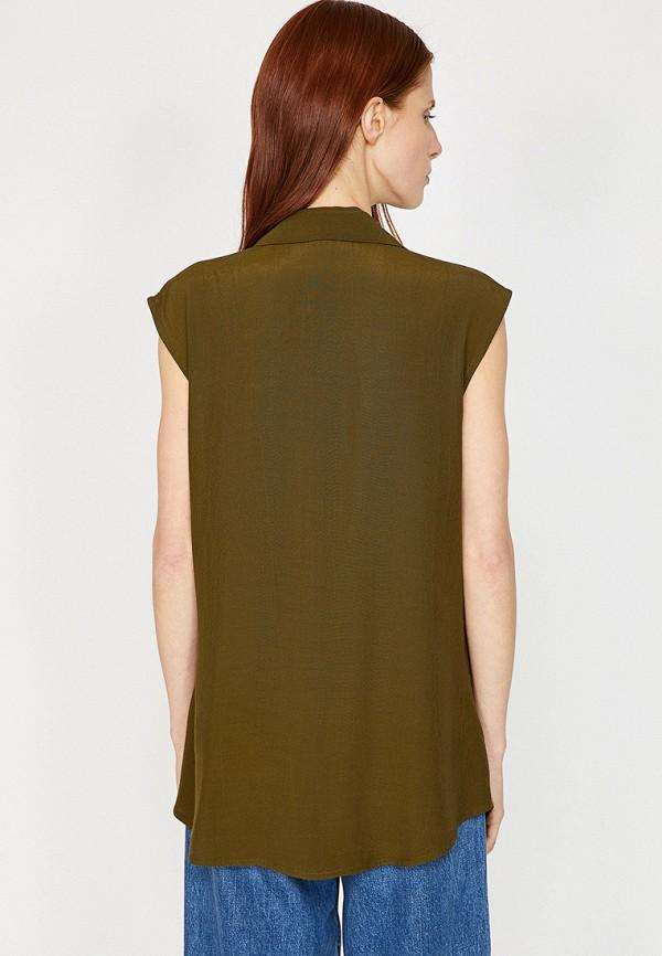 Фото 2 - Женскую блузку Koton цвета хаки