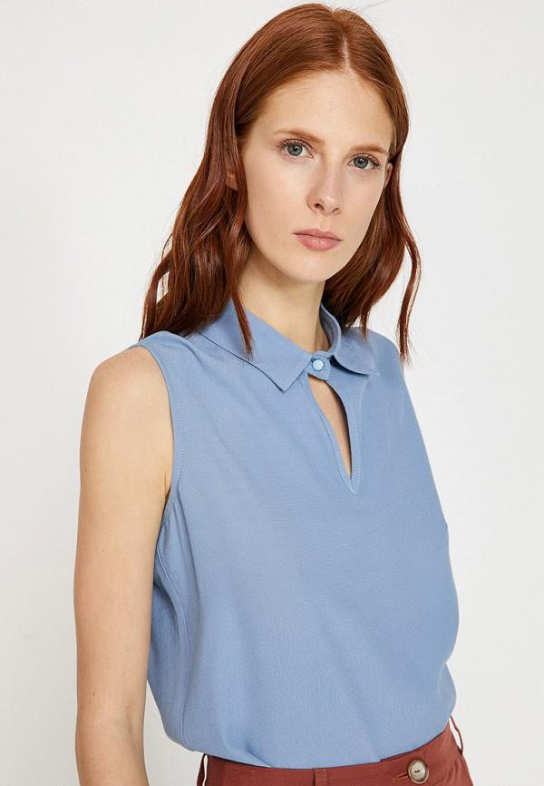 Фото - Женскую блузку Koton голубого цвета