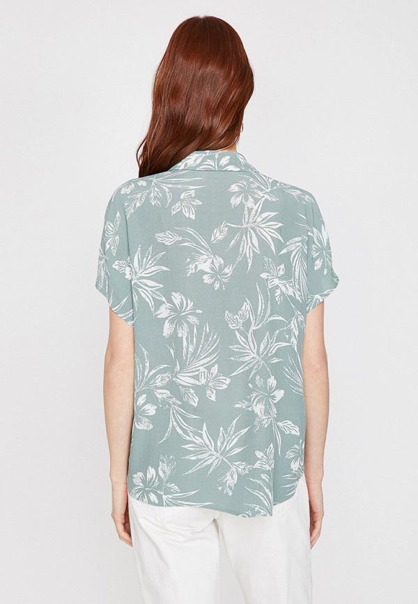 Фото 2 - Женскую блузку Koton зеленого цвета