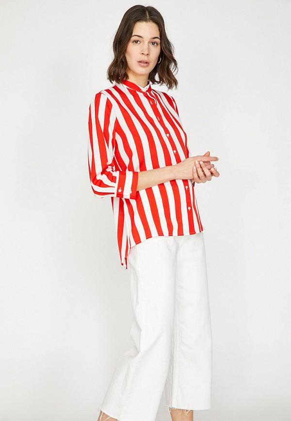 Фото 2 - Женскую блузку Koton красного цвета