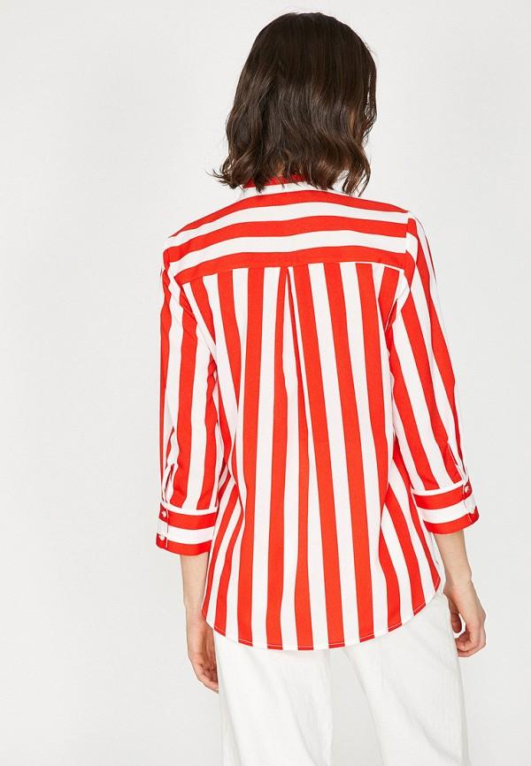 Фото 3 - Женскую блузку Koton красного цвета