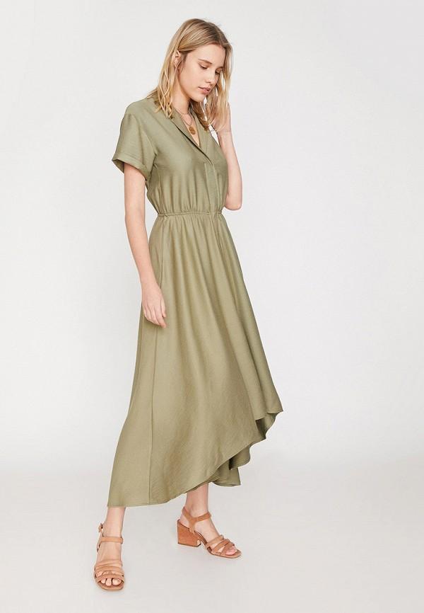 Фото - Женское платье Koton цвета хаки