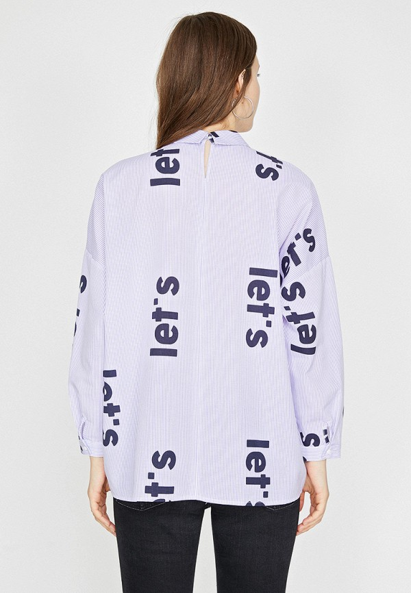Фото 2 - Женскую рубашку Koton фиолетового цвета