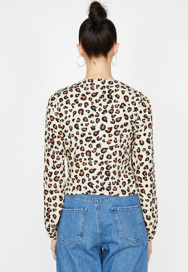 Фото 2 - женскую блузку Koton бежевого цвета