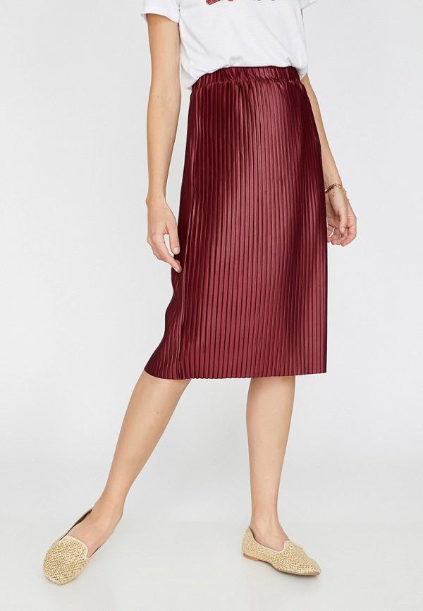 Фото - Женскую юбку Koton бордового цвета