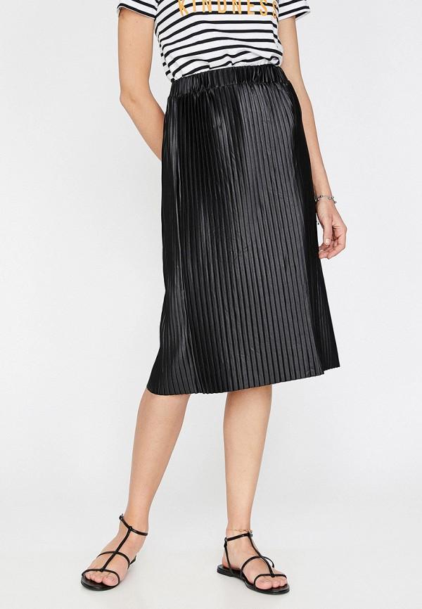 Фото - Женскую юбку Koton черного цвета