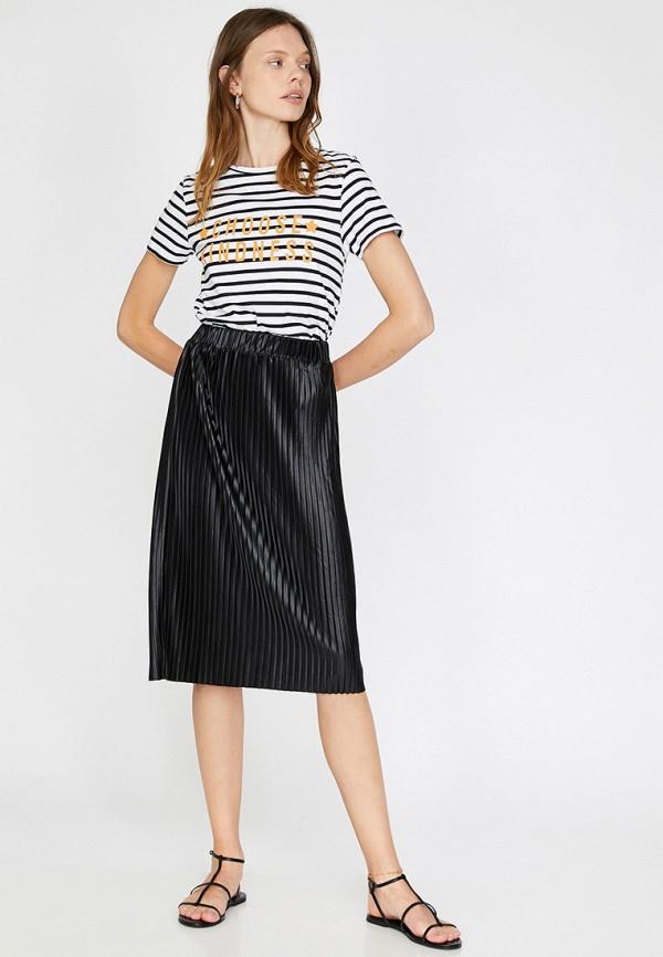 Фото 2 - Женскую юбку Koton черного цвета