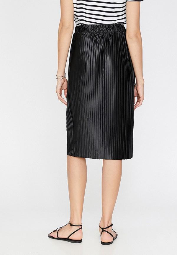 Фото 3 - Женскую юбку Koton черного цвета