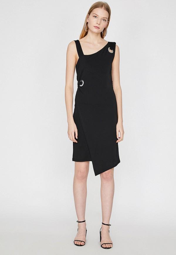 Фото 2 - Женское платье Koton черного цвета