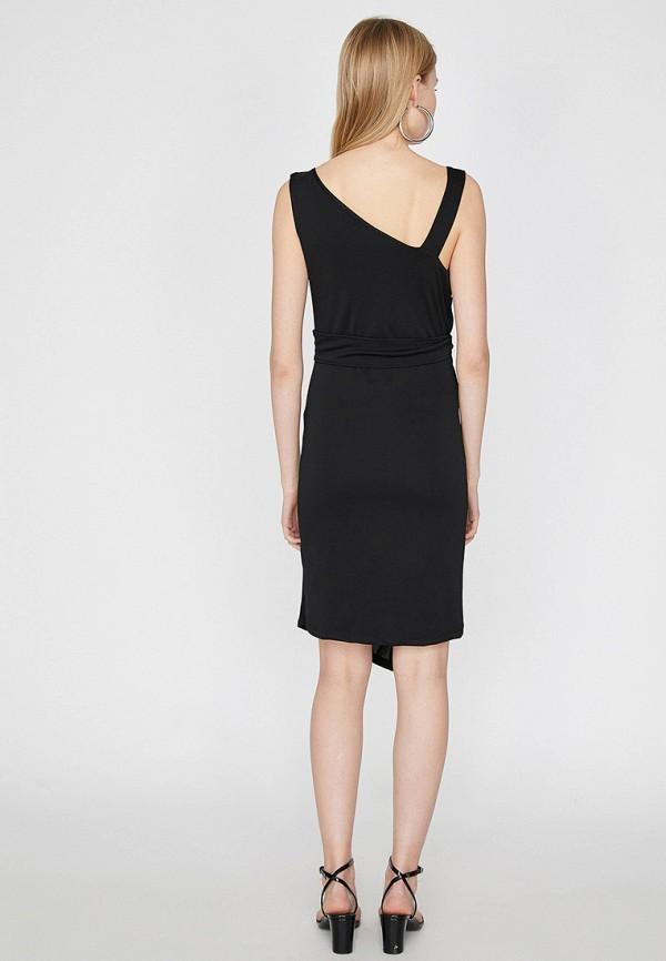 Фото 3 - Женское платье Koton черного цвета