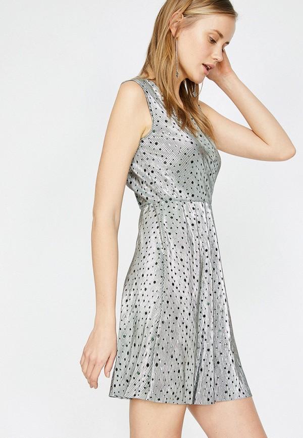 Фото - Женское платье Koton серого цвета