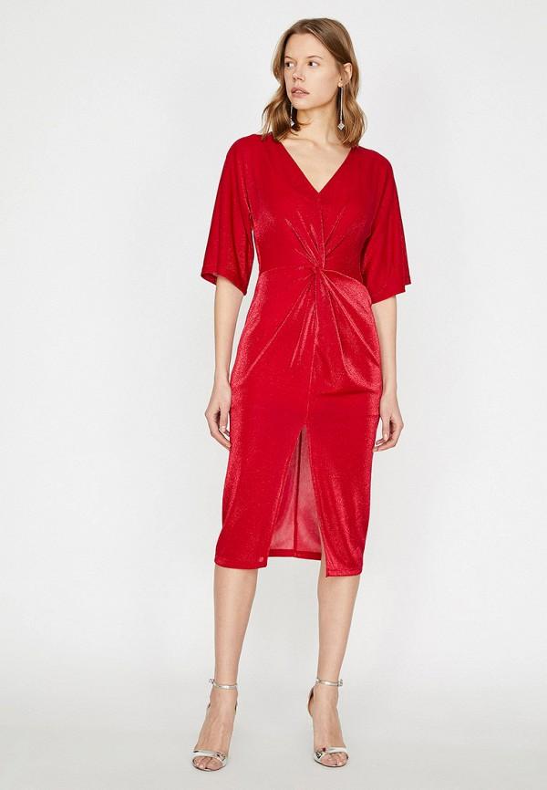 Фото - Женское платье Koton красного цвета