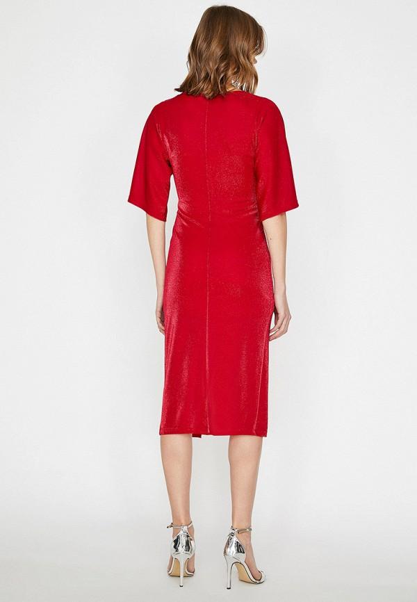 Фото 2 - Женское платье Koton красного цвета