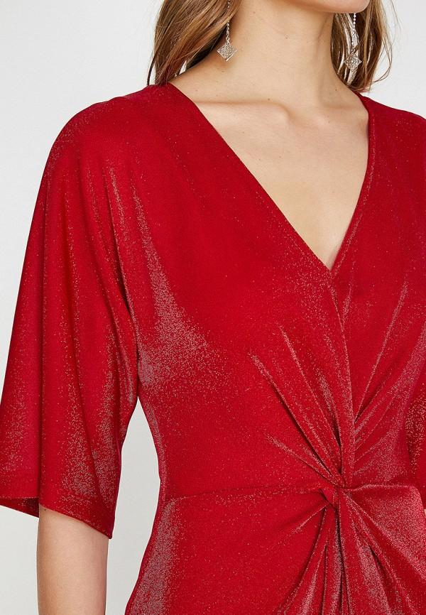 Фото 3 - Женское платье Koton красного цвета