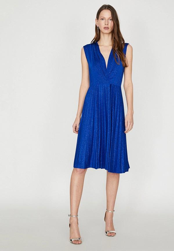 Фото - Женское вечернее платье Koton синего цвета
