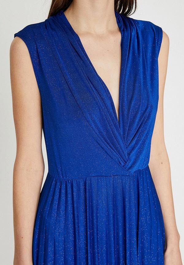 Фото 3 - Женское вечернее платье Koton синего цвета