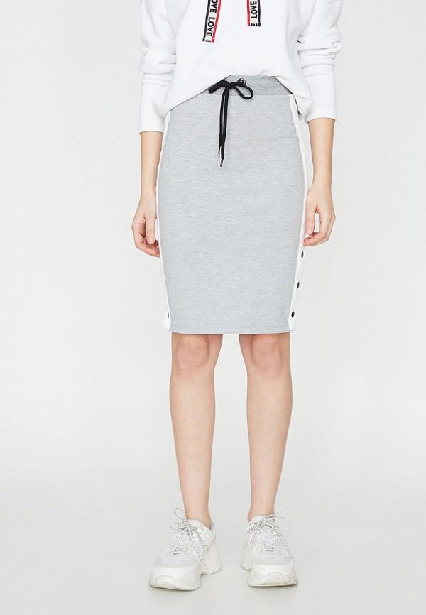 Фото - Женскую юбку Koton серого цвета