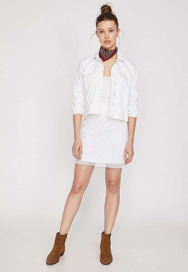 Фото 2 - женскую юбку Koton белого цвета