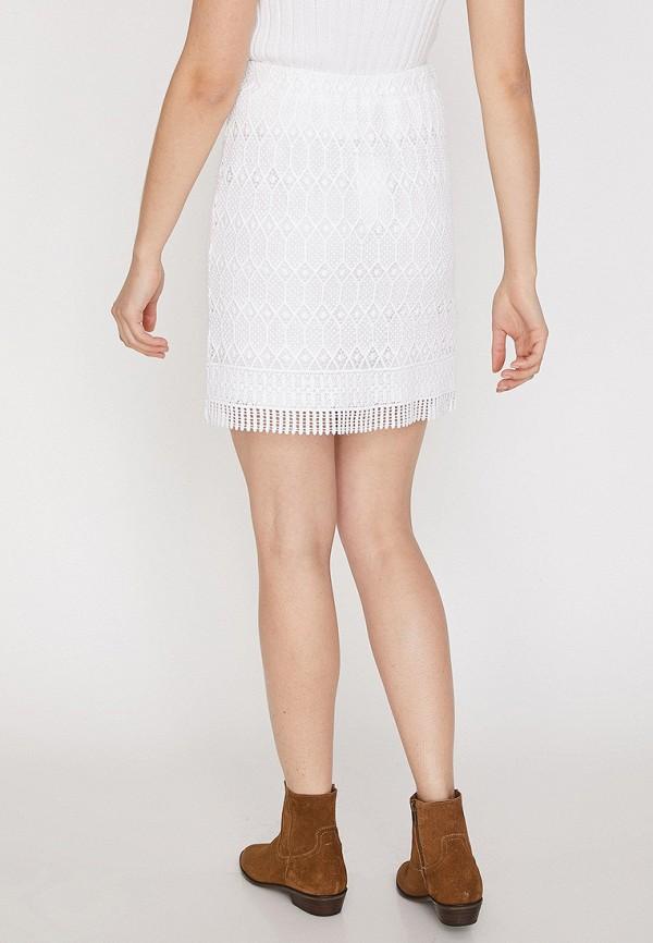 Фото 3 - женскую юбку Koton белого цвета